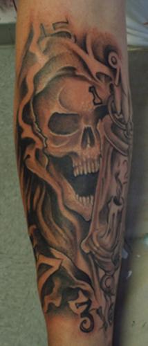 Tattoos - Skulleton with lantern - 29214