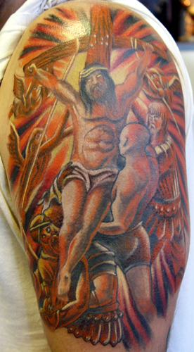 Tattoos - Christ cross - 21584