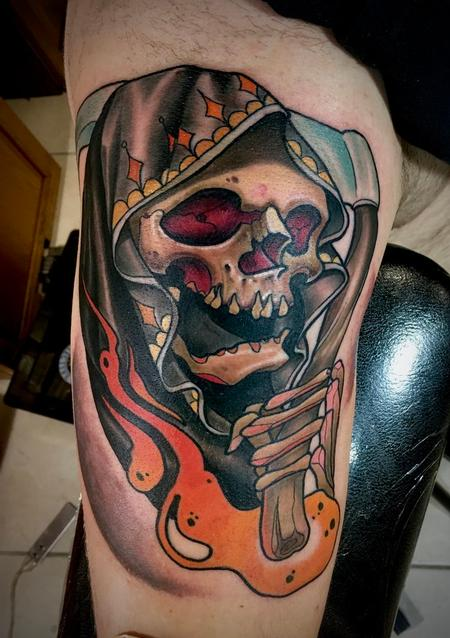 Tattoos - Neo Traditional Reaper - 141116