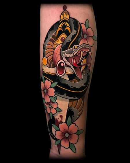 Tattoos - Snake and Dagger Tattoo - 141020