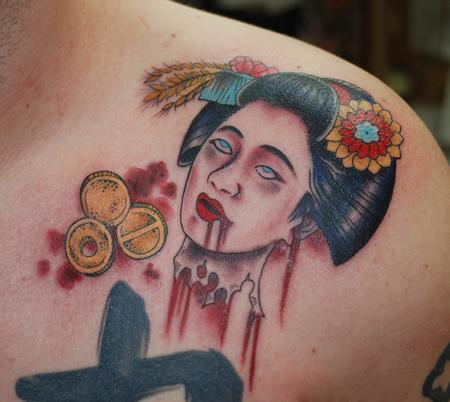 Tattoos - Severed geisha head - 67527