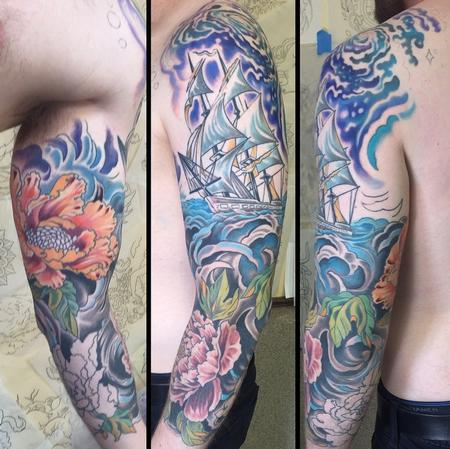 Tattoos - cosmic ship ( in progress) - 106381