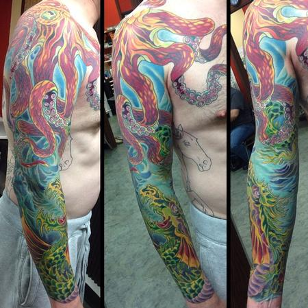 Tattoos - sea serpent/octopus - 106385