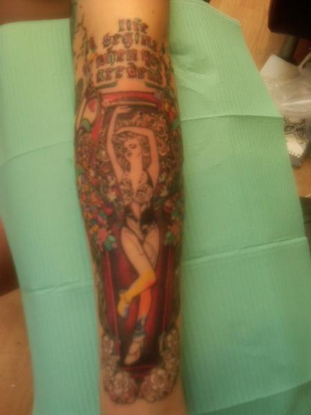 Tattoos - Art Nouveau arm piece  - 79693