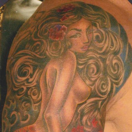 Tattoos - Mermaid Half Sleeve - 78589