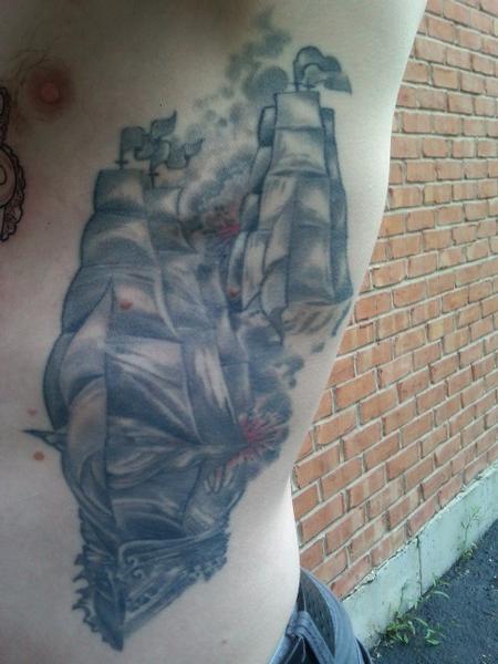 Tattoos - Rib Ship - 78290