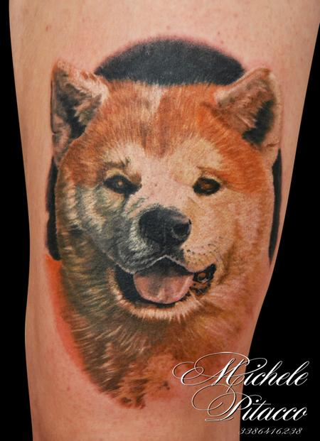 Tattoos - Akita Dog - 119446