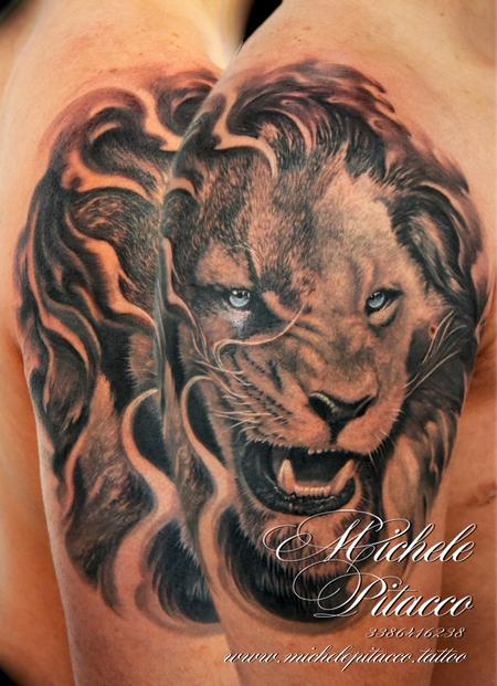 Tattoos - Lion - 128053
