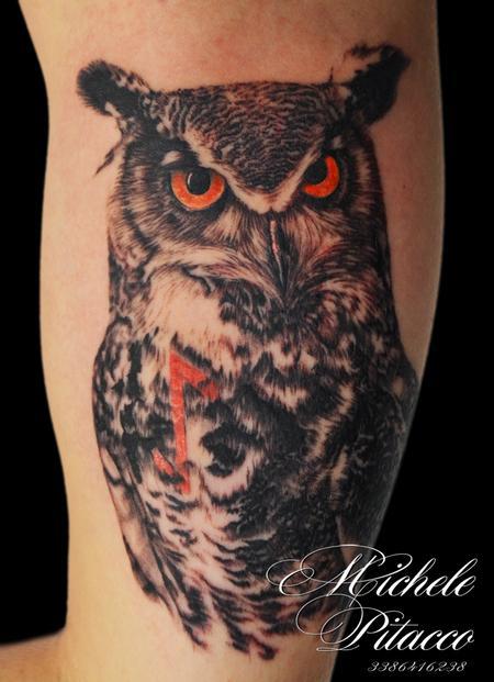 Tattoos - Owl - 113958