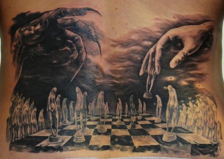 Tattoos - chessboard devil good - 96180