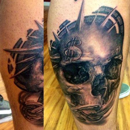 Tattoos - michele@offthemaptattoo.com, skull, teschio - 89344