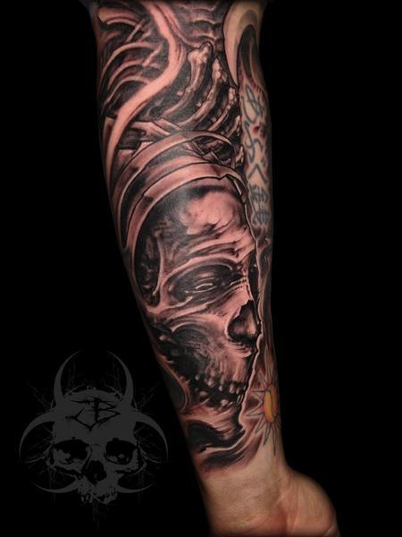 Tattoos - abstract skull tattoo - 81055