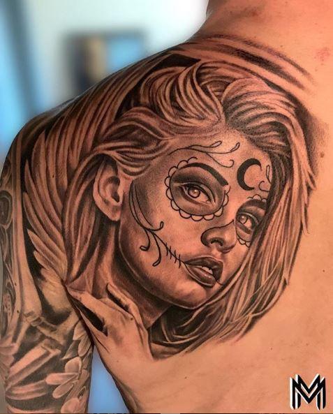 Matt Morrison Sugar Skull Woman By Matt Morrison Tattoonow