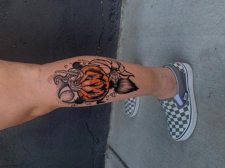 Tattoos - Sadie Gabriella Pumpkin Jack-O-Lantern - 142501