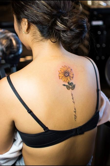 Tattoos - Sadie Gabriella Sunflower - 142496