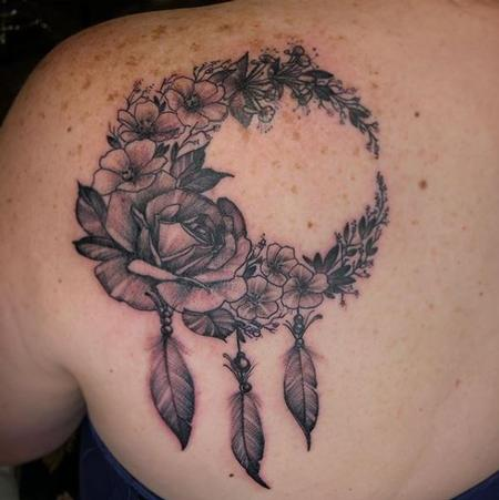 Tattoos - Al Perez Floral Moon - 139937