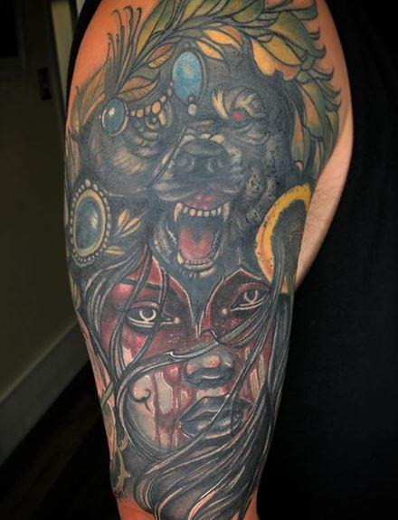 Al Perez Wolf & Woman Cover up