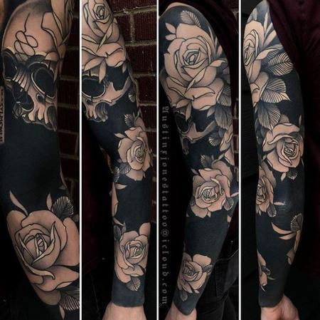 Austin Jones Floral blackout sleeve