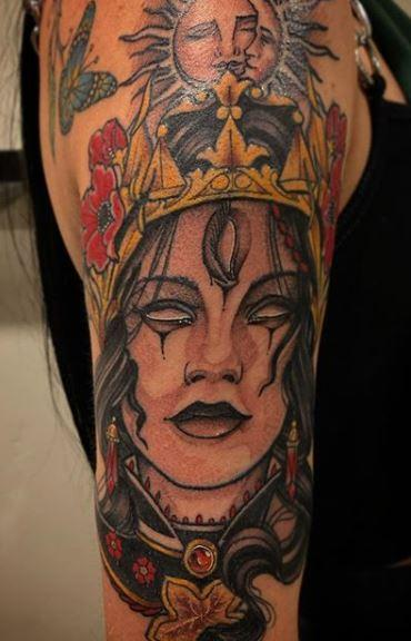 Tattoos - Billy Williams Neo Traditional Lady - 141395
