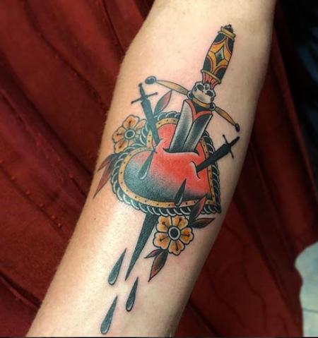Tattoos - Heart and Dagger Tattoo - 136167