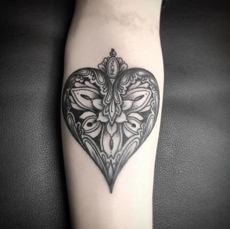 Tattoos - Mandala Heart - 138813