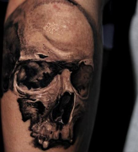 Tattoos - Chris Good in progress skull - 139925