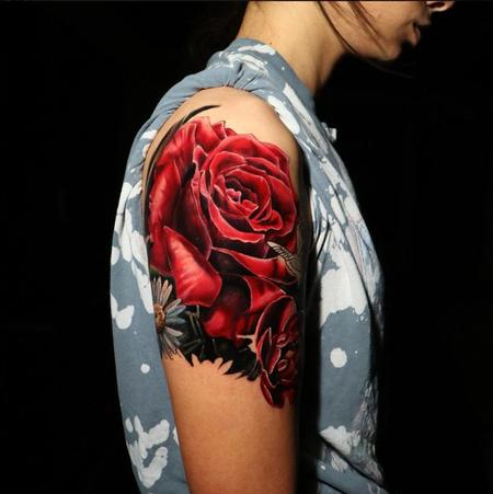 Tattoos - Chris Good Rose - 140391