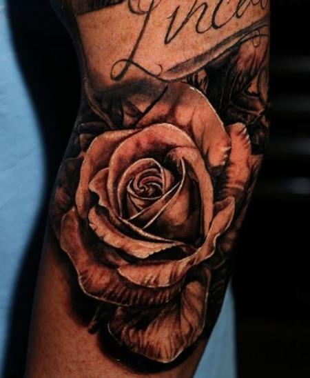 Tattoos - Chris Good Rose - 140166