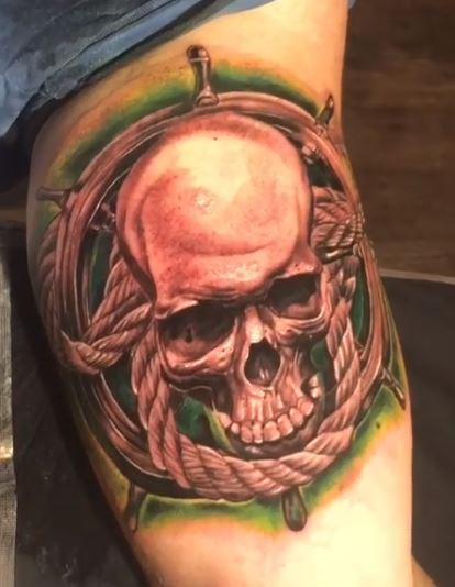 Tattoos - Chris Good Skull & Rope - 140534