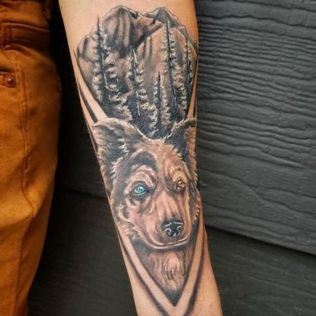 Tattoos - Cody Cook Dog Memorial - 140165