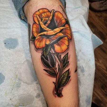 Tattoos - Cody Cook Yellow Rose - 138384