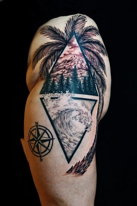 Tattoos - Bonnie Seeley Wave and Trees - 142206