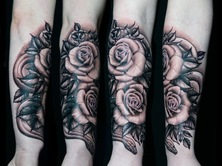 Tattoos - Ryan Cumberledge Roses - 142532