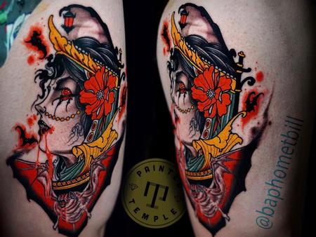 Tattoos - Billy Williams Vampire Portrait - 142196