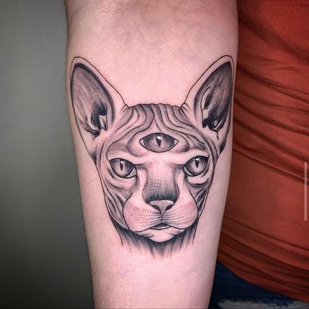 Tattoos - Spynx Cat Minds Eye - 142875
