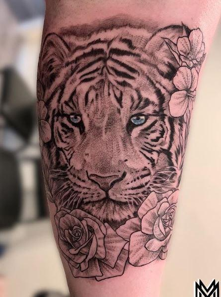 Tattoos - Matt Morrison White Tiger - 139611