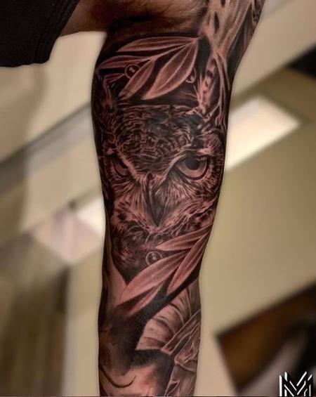 Tattoos - Matt Morrison Realism Owl - 138641