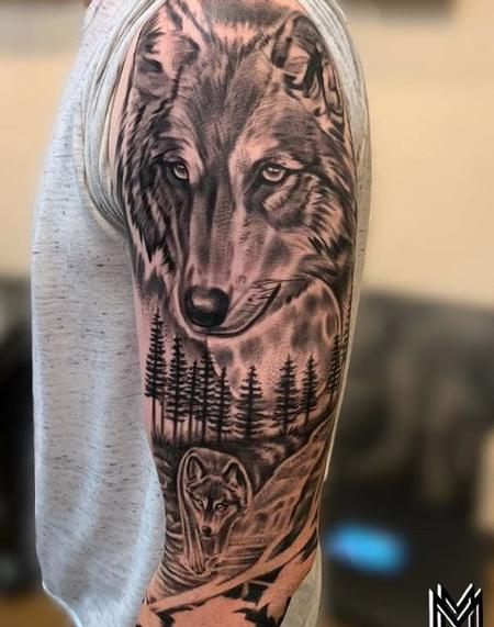 Tattoos - Matt Morrison Wolf Sleeve - 139749