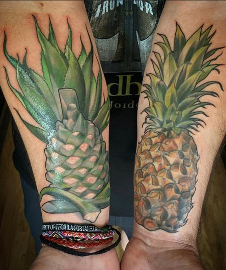 Tattoos - Miss Amanda Agave Pina and Pineapple - 141515
