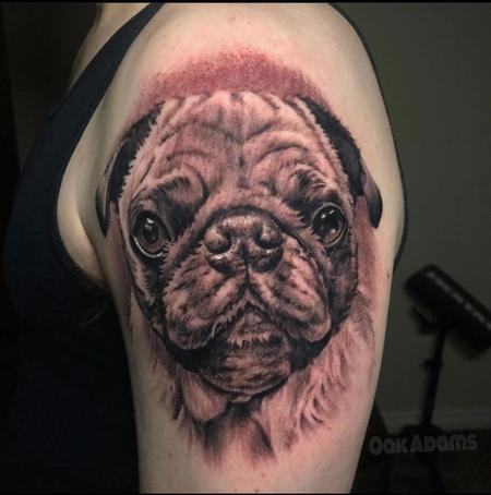 Tattoos - Oak Adams Pug - 141380