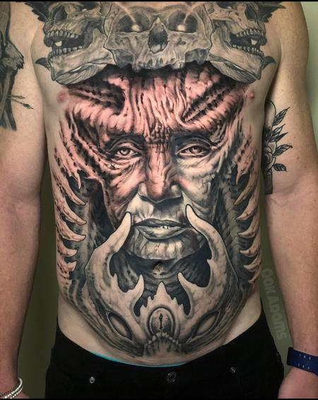Tattoos - Oak Adams Chest Piece - 141695