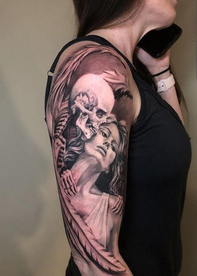 Tattoos - Oak Adams Skeleton Angel - 141720
