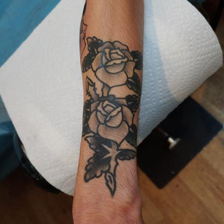 Tattoos - Quade Dahlstrom Black Roses - 141033