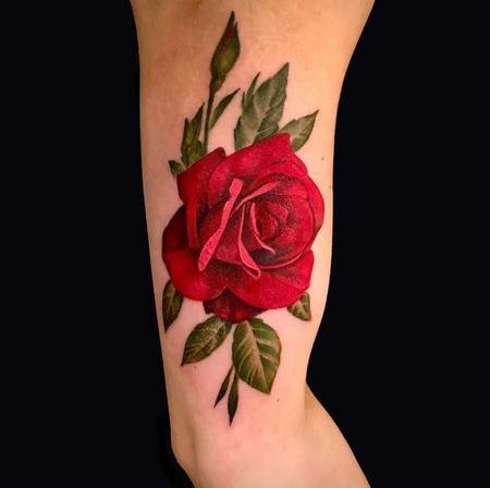 Tattoos - Rick Mcgrath Red Rose - 141510
