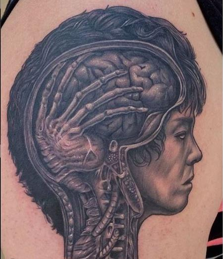 Tattoos - Ryan Cumberledge Alien Brain - 140167