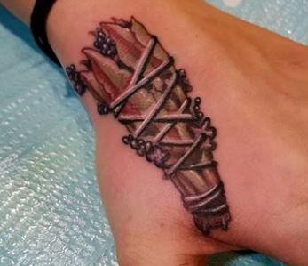 Sage Tattoo on hand