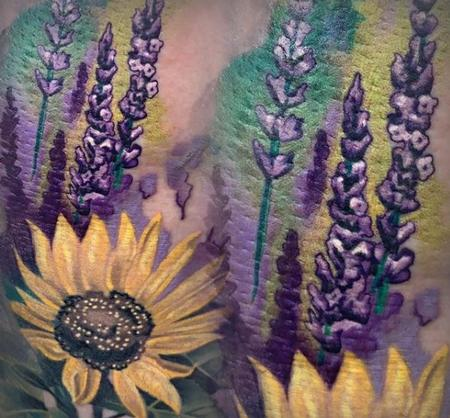 Tori Loke - Tori Loke Sunflowers and Lavender
