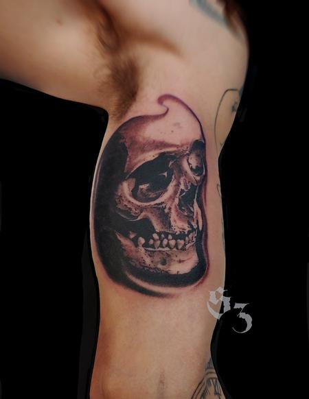 Tattoos - Quade Dahlstrom Skull - 142192