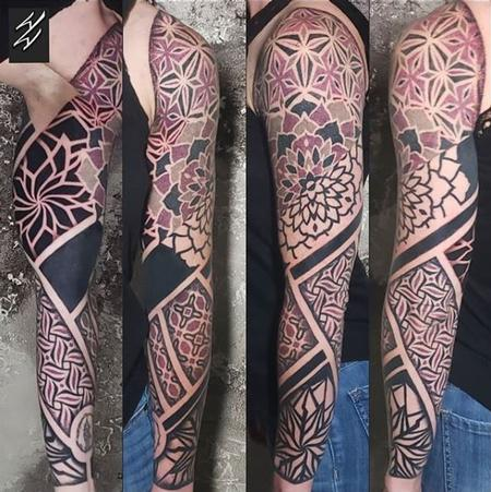 Tattoos - Walt Watts Geometric Sleeve - 140172