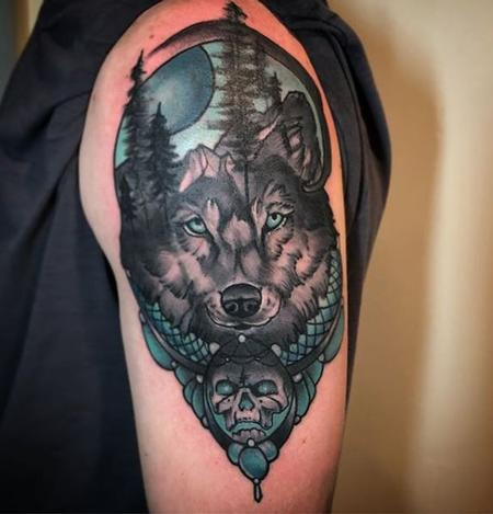 Tattoos - Mountain Wolf Tattoo - 137830